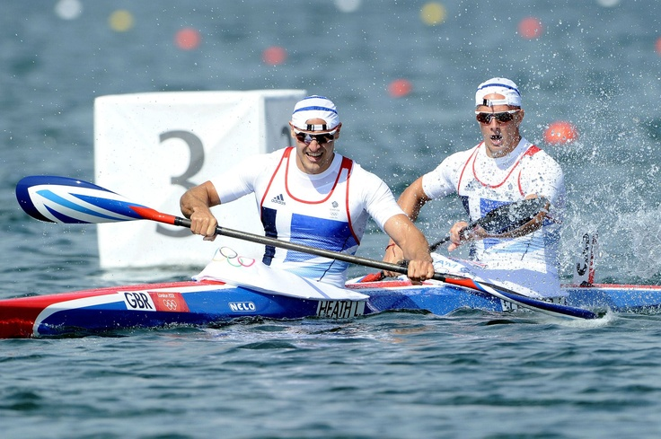 Day fifteen: Liam Heath and Jon Schofield of Team GB in action during the Men's Kayak Double (K2) 200m Canoe Sprint.