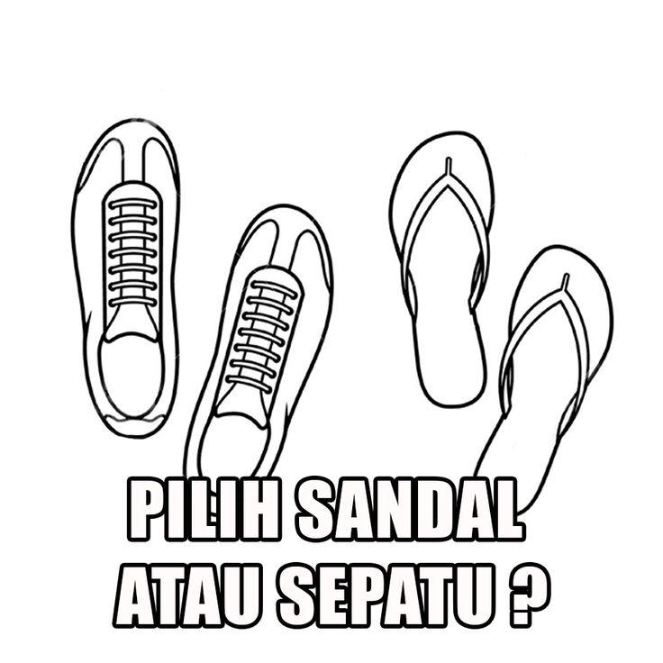 Pembeli: Bang, beli sepatu dong Penjual: Nih! Pembeli: Kok dikasi sandal? Penjual: Kan sama-sama alas kaki! Pembeli: Ok, nih uangnya! Penjual: Kok di kasih koran? Pembeli: Kan sama-sama kertas-nya. Penjual: huhuhu Pembeli: huhuhu