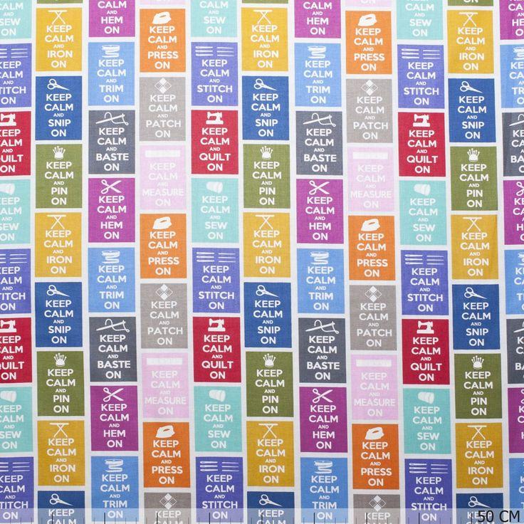 De mooiste keep calm stoffen vind je bij Textielstad.nl. ✓ Snelle levering ✓ Beste prijs ✓ Betrouwbaar ✓ A-merken.