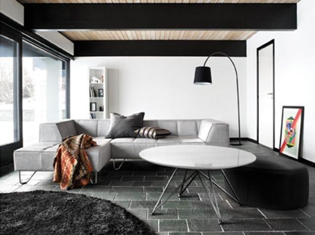 Salon noir blanc milos bo concept