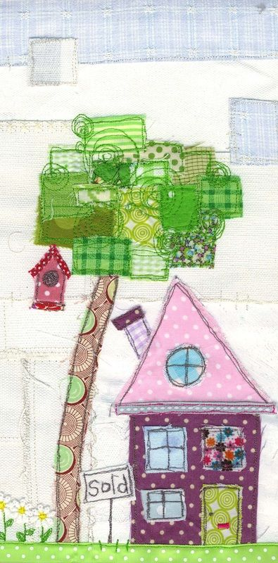 Love the patchwork scrappy tree!