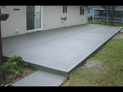 How To Pour A Concrete Patio. Pour Your Own Concrete Patio Using These  Instructions.