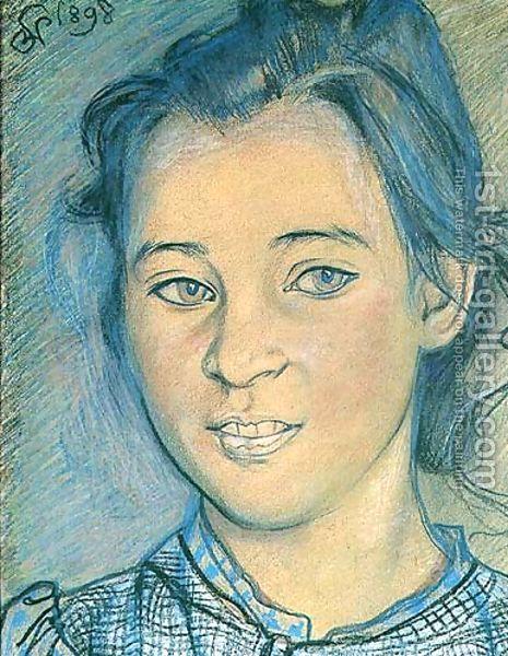 Head of a Girl by Stanislaw Wyspianski