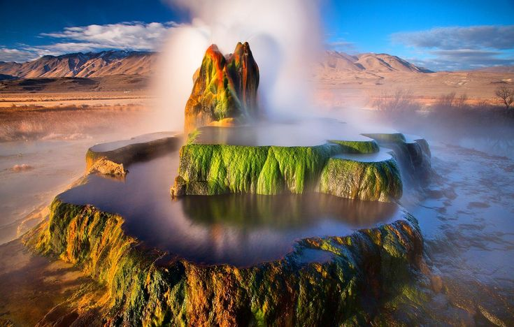 Fly Geyser – Nevada (USA) Top Five Bewildering Geysers of the World