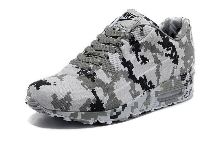 Herre Nike Air Max 90 VT Sko - Camouflage Hvid