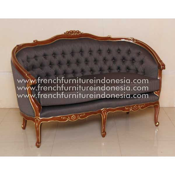 Buy French Sofa 2 Seater 150 from French Furniture Style. We are reproduction furniture 100% exporter Furniture manufacturer with french furniture style and good quality finish. This Bed is made from mahogany wood with good quality and treatment process and the design has a strong construction, suitable to your bedroom. #GalleryFurniture #FurnitureOnline #WholesaleFurniture #FrenchFurniture #AntiqueFurniture