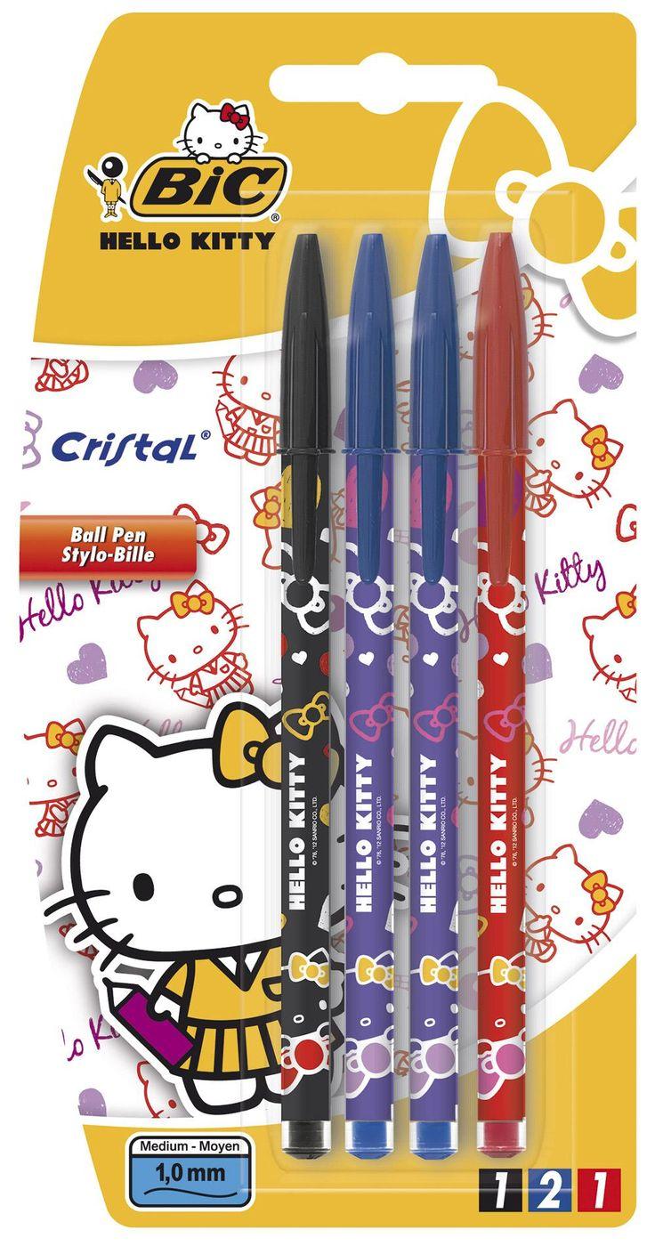 Hello Kitty blister 4 bolígrafo BIC 3col Hello Kitty LICENCIAS. Alco Distribuciones, distribuidor mayorista para toda España.