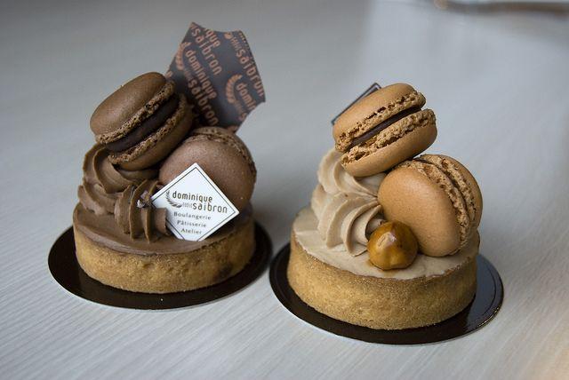 더블 초콜릿/헤이즐넛 마카롱 타르트