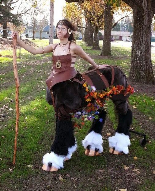 Centaur costume, centauress, puppet legs, realistic centaur,