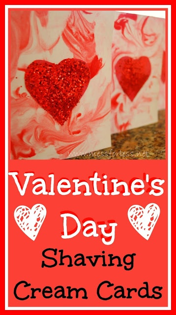 Mess For Less: Make Cards for Valentine's Day Using Shaving Cream