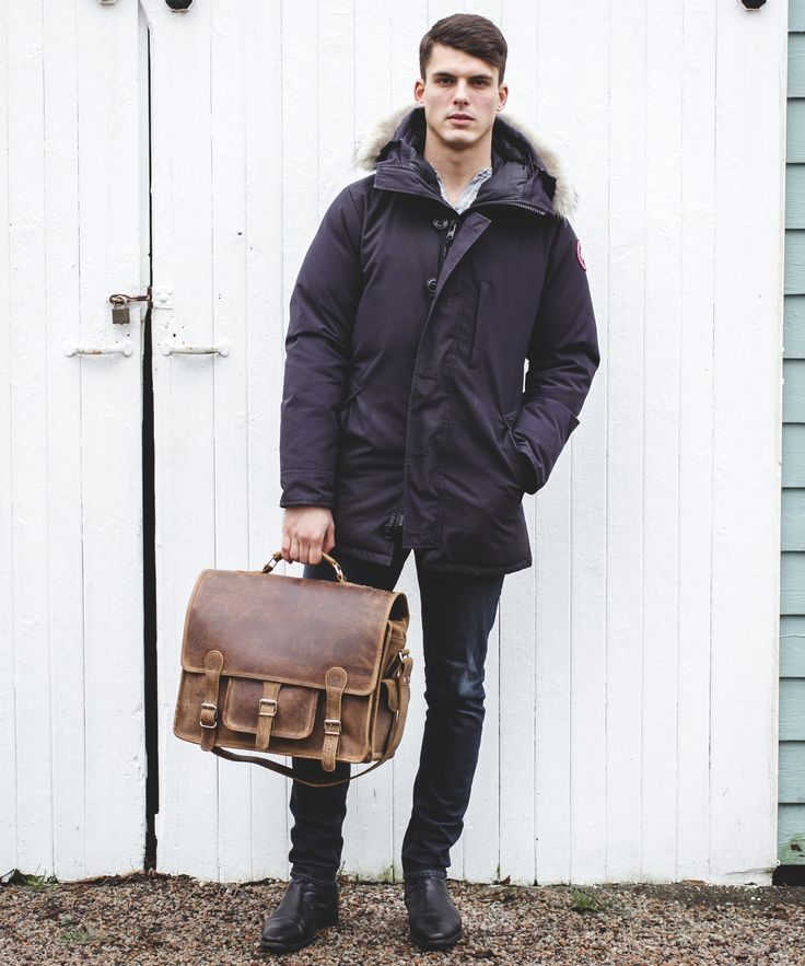 Scaramanga leather bags for men: vintage leather, distressed and will last forever.