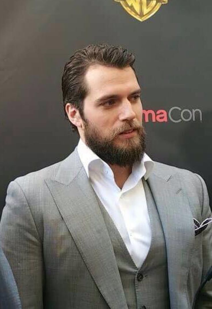 Henry Cavill - rip your shirt off and show me your monstrous hairy chest