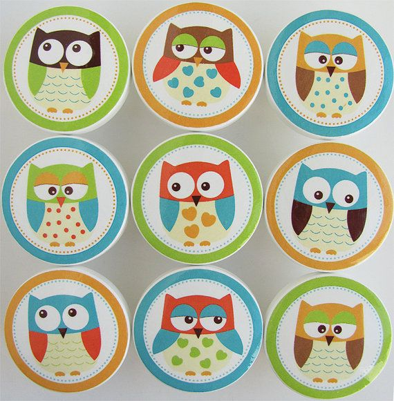 Hey, I found this really awesome Etsy listing at https://www.etsy.com/listing/150004056/hoot-owls-colorful-owl-knobs-lime-green