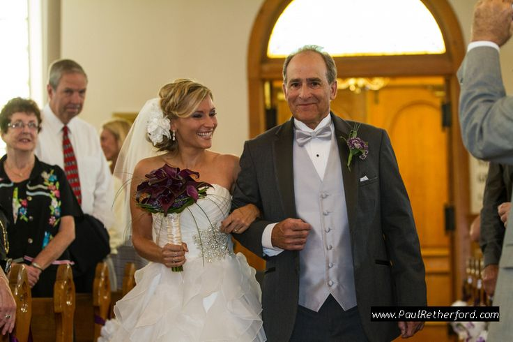 bride walking down wedding isle ste. anne's church Mackinac Island Do It Yourself Wedding planning Photography | Ste Annes Church | City Community Hall photo