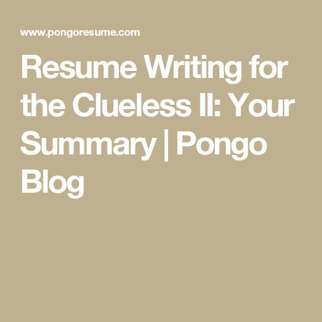 Resume Objectives - A 4 Step Guide Pongo Blog Jobs Pinterest - pongo resume