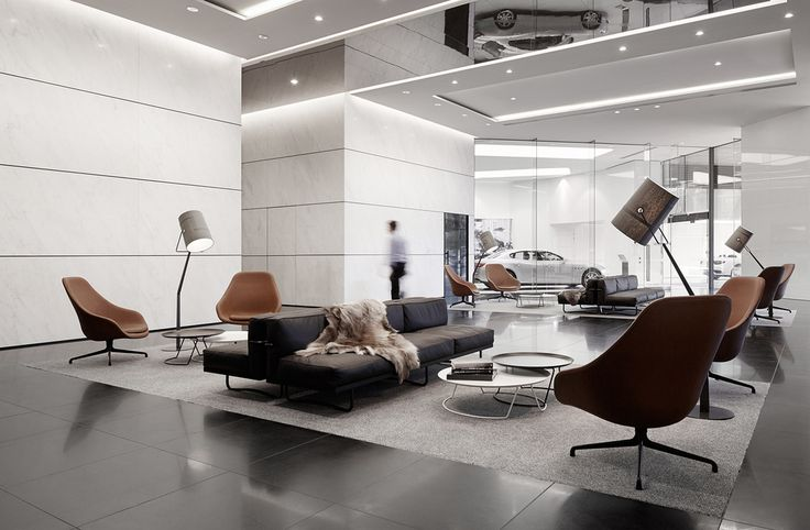 I need a fur throw in my life.   501 Swanson: Melbourne's Audi and Maserati Dealership by Elenberg Fraser