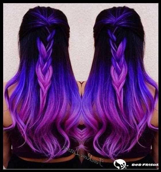 95 Außergewöhnliche blaue und violette Haare, die Sie begeistern – #KurzhaarfrisurenDamenblond #KurzhaarfrisurenDamendickeshaar #KurzhaarfrisurenDam…