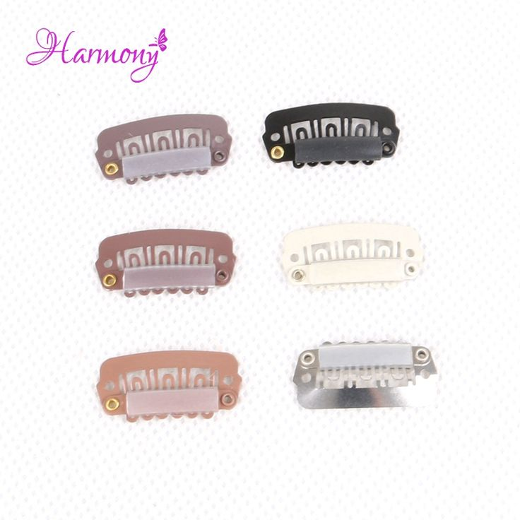 Harmony Plus Hair 1000pcs 2.3cm hair snap wigs clips for machine wefte/weaving extensions professional salon accessories