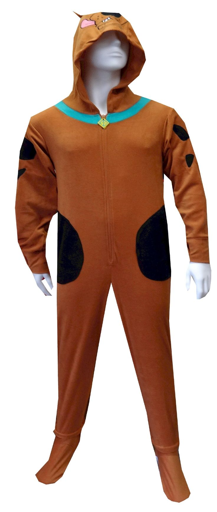 scooby doo adult footie pajamas with hood $ 38.00