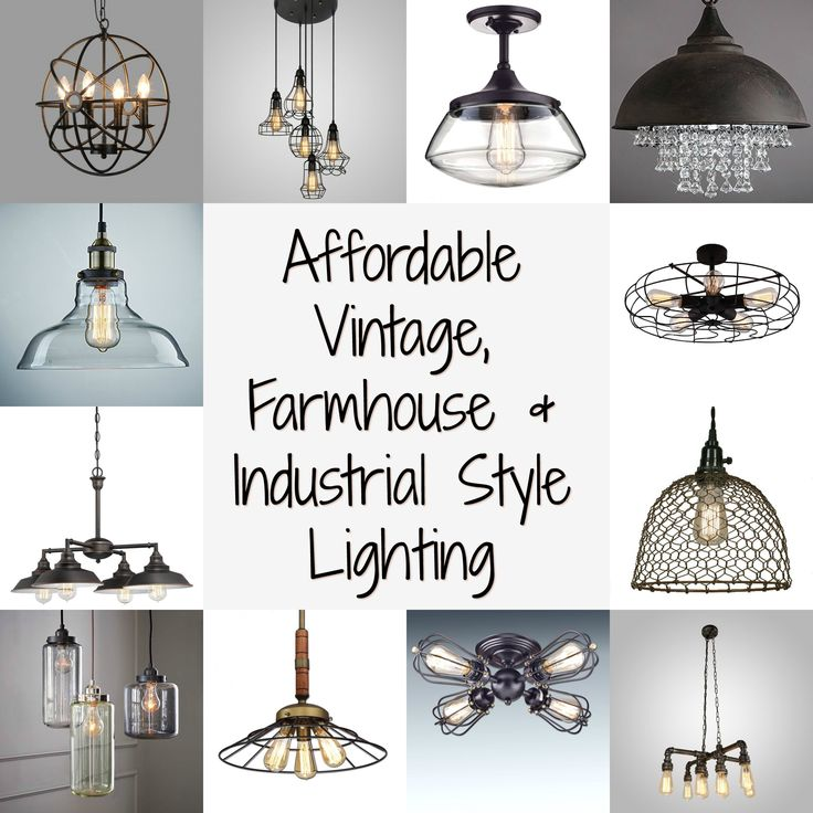 Affordable vintage, farmhouse and industrial style lighting all under $150…