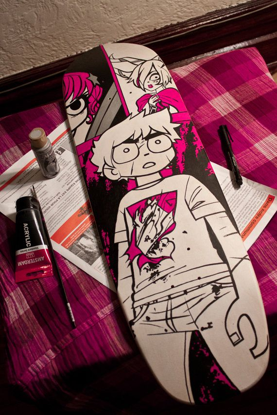 Scott Pilgrim Custom Skateboard Deck