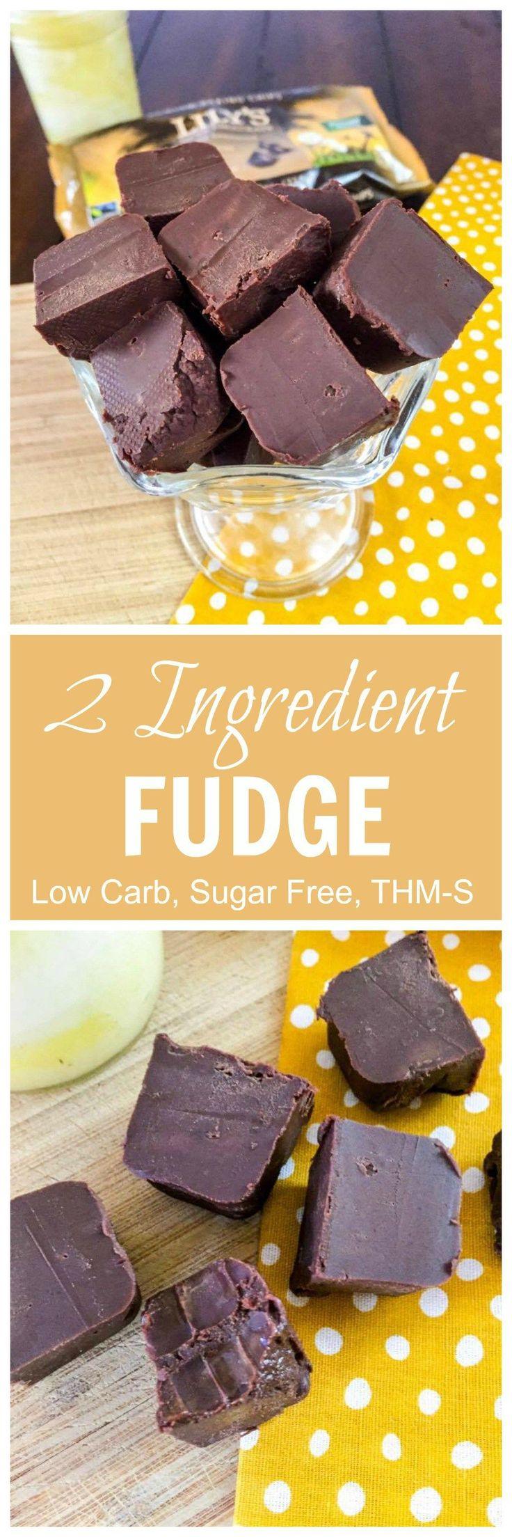 2 Ingredient Fudge (Low Carb, Sugar Free, THM-S)                                                                                                                                                                                 More