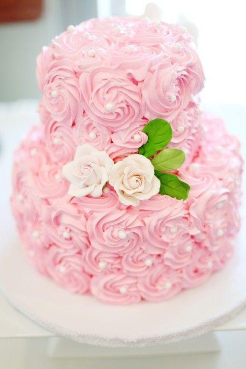 #cake #pearls #pink