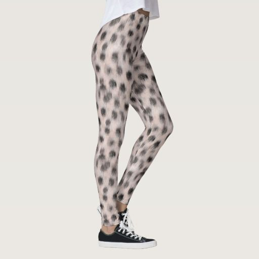 Pink Cheetah faux fur leggings