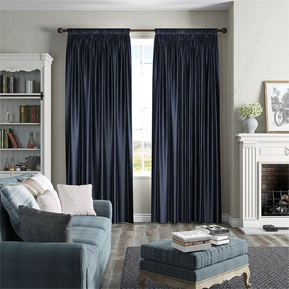 Create The Perfect Setting To Chill Out And Spend Night With Dark Tones Navy CurtainsLivingstonCurtain