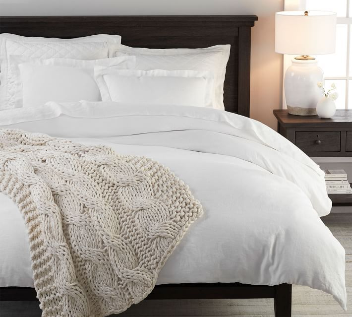 Belgian Flax Linen Duvet Cover Shams White In 2020 Linen