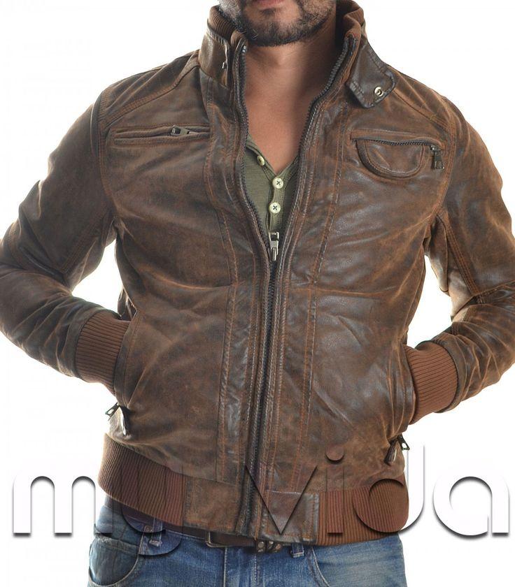 Giubbotto giacca uomo ecopelle | My Vida #pitti #fashion #moda #accessori #casual #abbigliamento #capelli #regali #gilet #outfit #inverno #pantaloni #look #maglioni #barba #barbershop #style #fitness #clothing