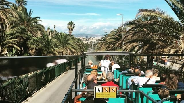 😎 tourists.  2nd floor tour bus ride!  Kkuljaem!  Top corner!  # 👍 real…