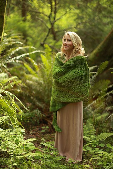 Ravelry: Waiting For Rain pattern by Sylvia Bo Bilvia Done in a larger yarn, it's like a blanket!