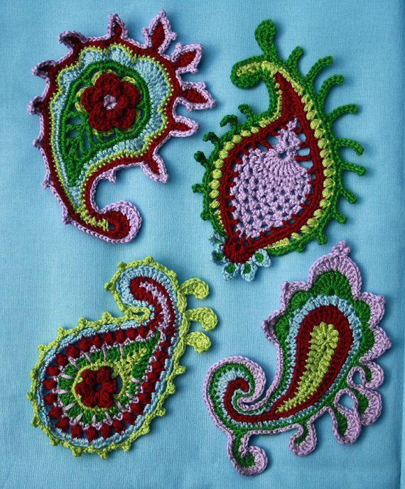 El patrón de remolino-crochet Paisley