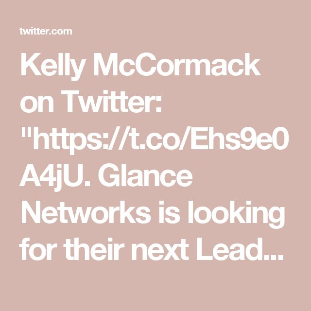 """Kelly McCormack on Twitter: """"https://t.co/Ehs9e0A4jU. Glance Networks is looking for their next Lead Solution Architect in Arlington, MA #SD #Mass"""""""