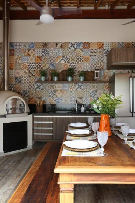 Terraço Gourmet II: Terraços Rústico por Danielle Tassi Arquitetura e Interiores