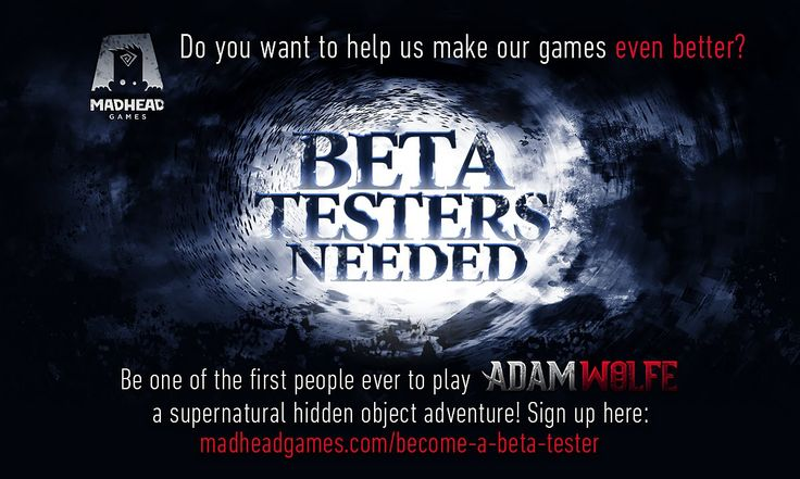 Be one of the first people to play Adam Wolfe, a supernatural hidden object adventure! Sign up below!  http://www.madheadgames.com/become-a-beta-tester/  #betatester #gametester #madheadgames
