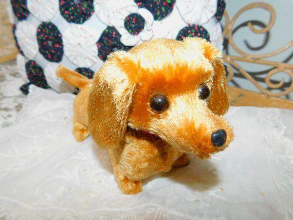 Walking Barking Tail Wagging Vintage Dachshund Dog Vintage Toy