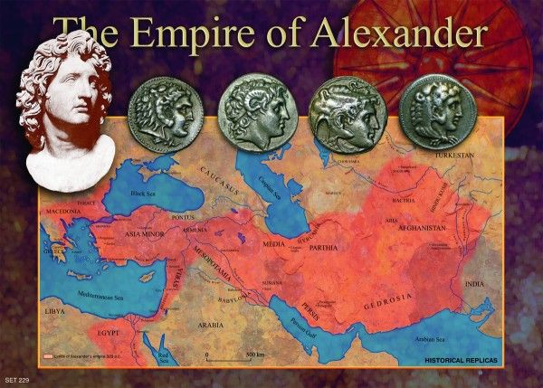 This picture shows a map of the conquests of Alexander the Great that were accomplished during the Hellenistic period.