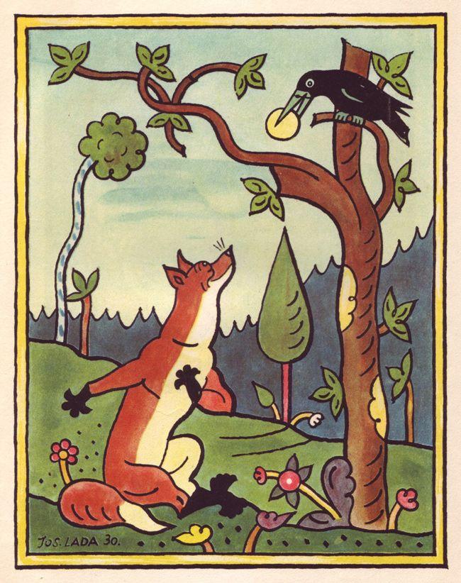 Children's book illustration by the Czech artist Josef Lada.