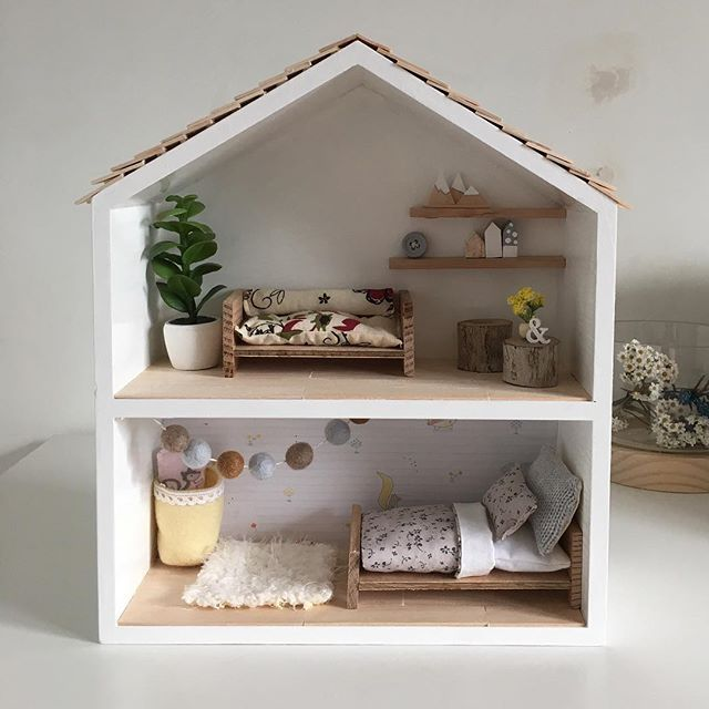 This is a pre made shadow box/shelf that I have painted white. It measures 25/30/9.5 cm .