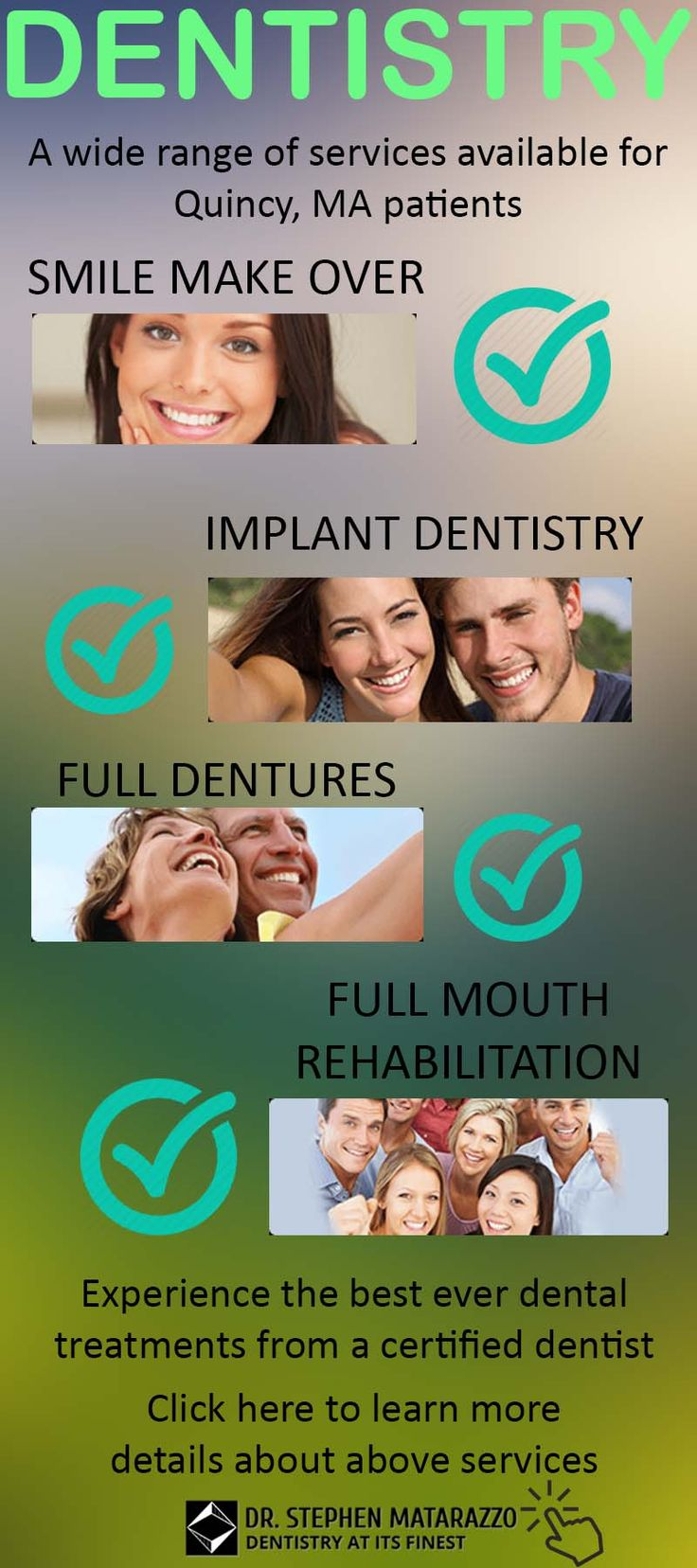 Dr. Stephen Matarazzo is the dentist Quincy patients trust for clear communication of treatment options and personalized treatment. Call 617 405 3939 #dentistry #dentalservice #oral #dentist #quincy #MA #smile #teeth #implants #DentalImplants