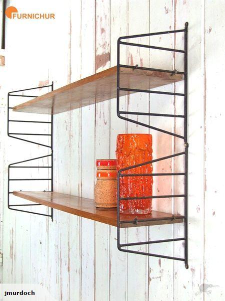 ::: 1950s Jon Jansen String Shelves :: | Trade Me