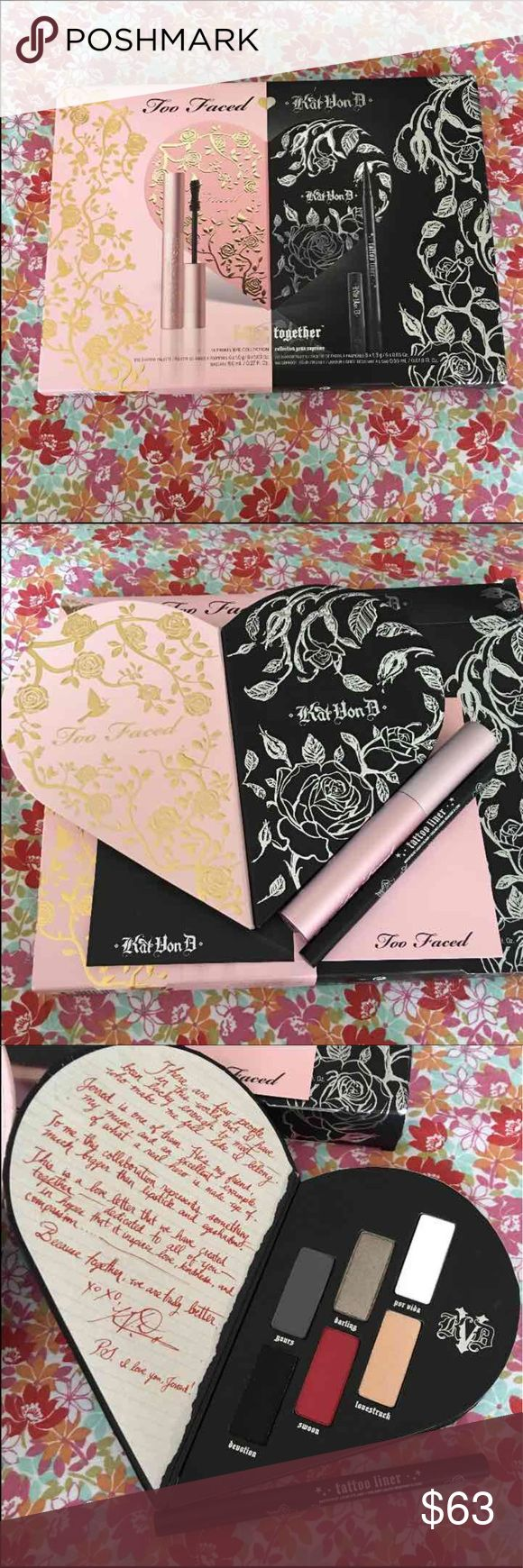 Too Faced Kat Van D Better Together Authentic • Brand New • Never Used • limited Edition Palette Too Faced Makeup Eyeshadow