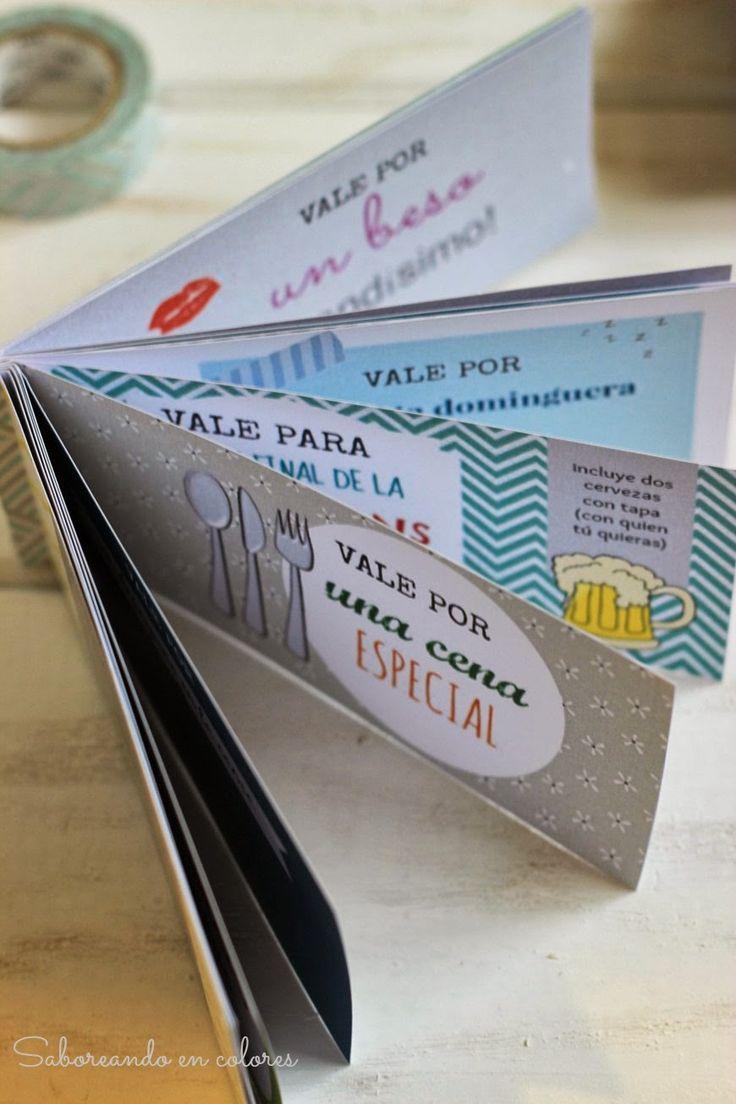 SABOREANDO EN COLORES: Talonario de vales para el Día del Padre. Imprimible gratis