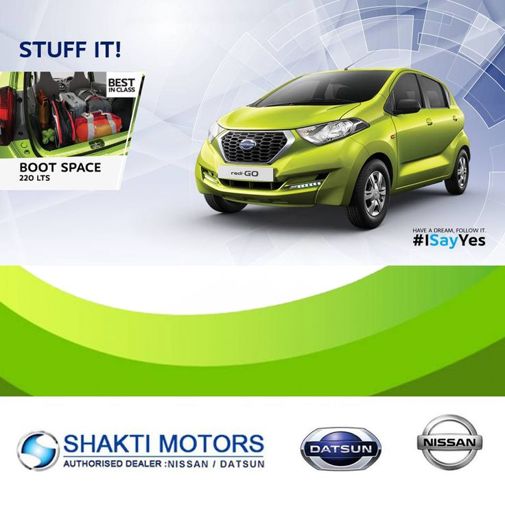 #DatsunGo is more an Estate Car than an MPV. The #Boot is enough to accommodate a weekend worth of luggage. #ShaktiNissan : https://goo.gl/5dMoux #ShowRoom in #NaviMumbai #MyCar #Drive #DatsunCar #NissanCar