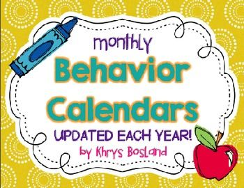 These monthly behavior calendars are easy to use and will help keep your student's behavior on track!These calendars are now EDITABLE! be able to modify the colors at the bottom and a description of your behavior plan.Download the PREVIEW for a sample of what the calendars look like!*Updated for 2015-2016*THESE WILL BE UPDATED TO RE-DOWNLOAD FOR FREE EACH YEAR!
