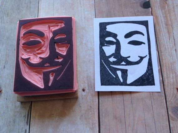 Guy Fawkes Mask V for Vendetta Hand Carved by dragonflycurls