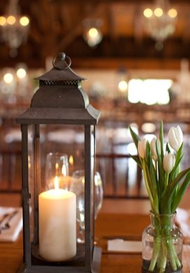 Shabby chic wedding table decoration