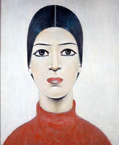Portrait of Ann, 1957, LS Lowry, The Lowry Collection, Salford